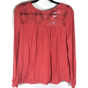 NWT Sweet Wanderer Crocheted Lace Top Sz Large
